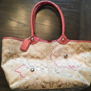Coach shoulder tote